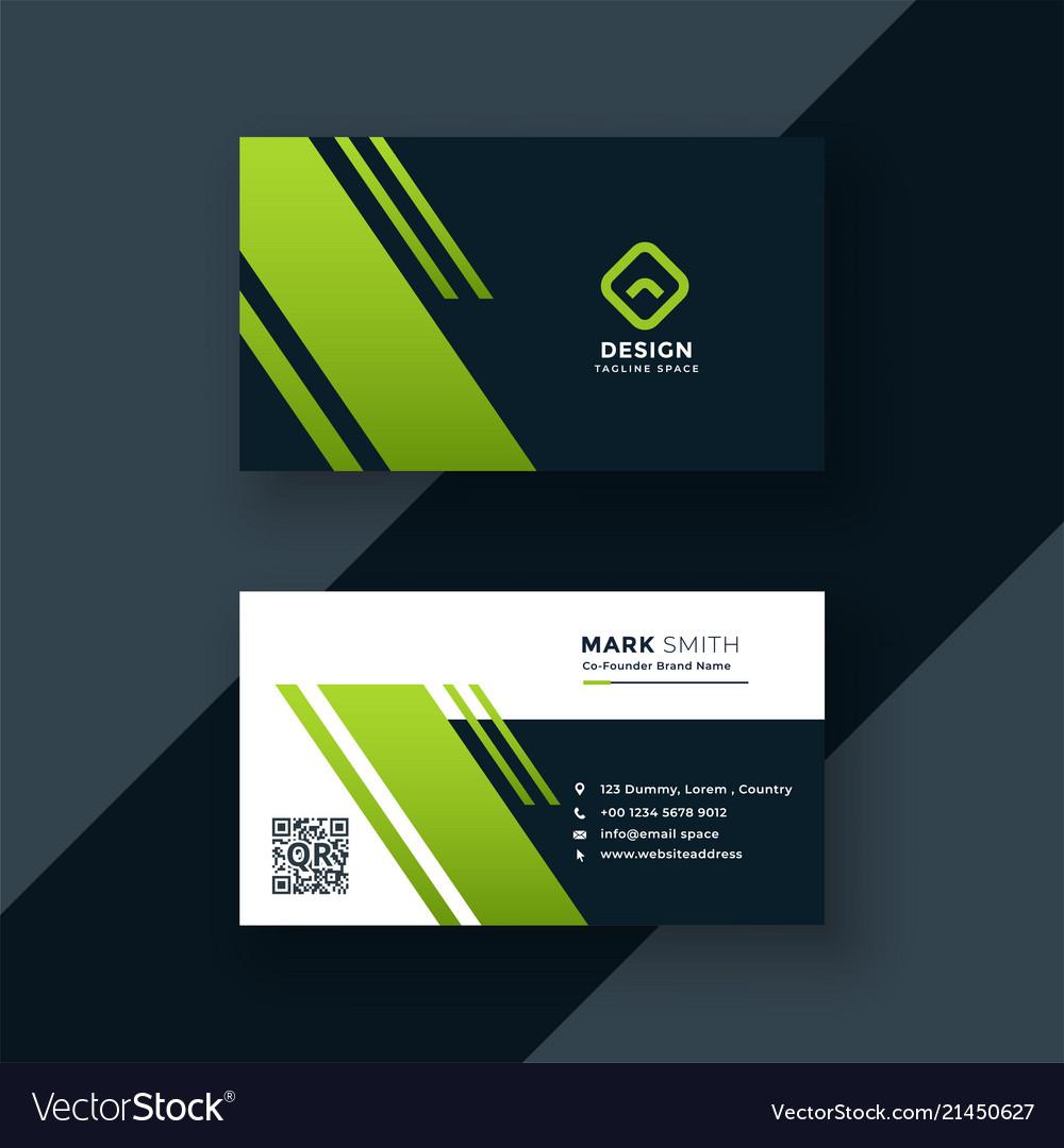 dark green business card professional design