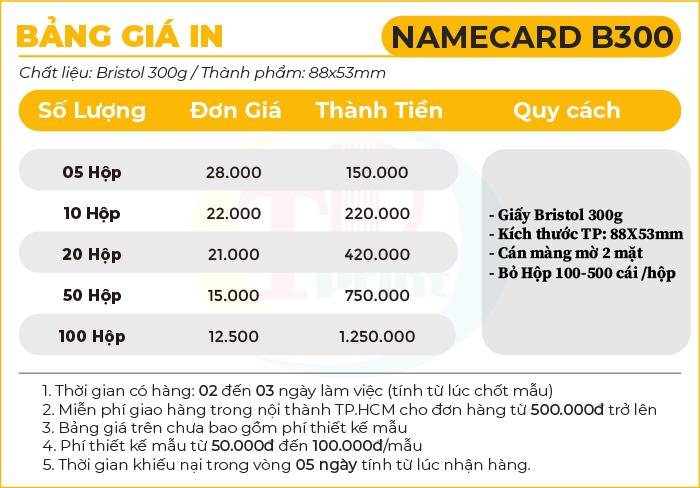 namecard B300 – Tháng 4