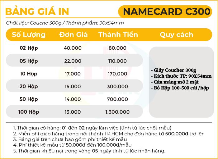 namecard C300 – Tháng 4